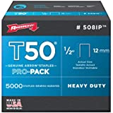 Arrow Fastener 508IP Genuine T50 1/2-Inch Staples, 5,000-Pack