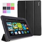 Poetic Slimline Case for All New Kindle Fire HD 7 2nd Gen (2nd Generation 2013 Model) 7inch Tablet Black (with Smart Cover Auto Wake / Sleep Feature)(3 Year Manufacturer Warranty From Poetic)