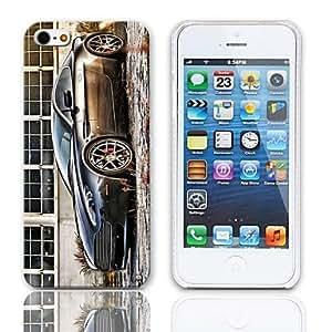 MOFY-Caso duro del dise–o del cupŽ con paquete de 3 protectores de pantalla para iPhone 5/5S