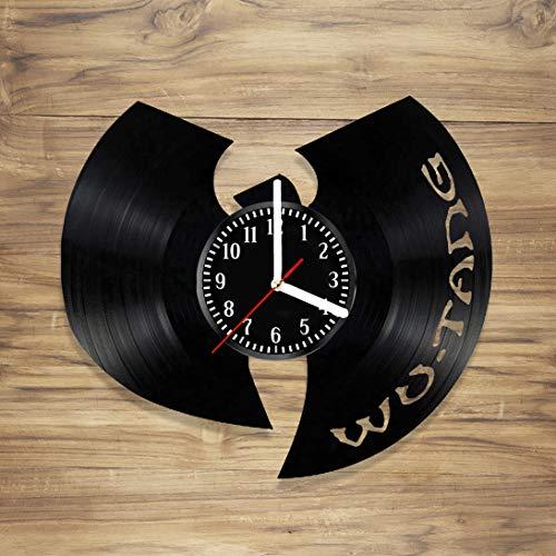 DecorArt Studio Wu Tang Clan Vinyl Record Wall Clock Hip Hop Clan Rap Legend Bastard Staten Island Handmade Art Home Unique Gift idea Him Her (12 inches) ()