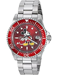 Invicta Mens Disney Limited Edition Automatic Stainless Steel Casual Watch, Color:Silver-Toned (Model: 24609)