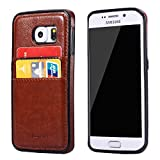S6 Edge Plus Case, Galaxy S6 Edge Plus Case, Joopapa Samsung Galaxy S6 Edge Plus Wallet Case, Leather Wallet Case back Cover with 2 Credit Card/ID Card Slots for Samsung Galaxy S6 Edge Plus (Brown)