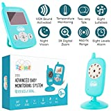 Baby Monitor - Baby Camera - Old Baby Monitor - Wireless Video Baby Monitor Camera with Lights Color - Display Infant Baby Monitor with Night Vision - Temperature Sensor - Two Way Talkback Lullabies