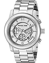Men's Runway Silver-Tone Watch MK8086