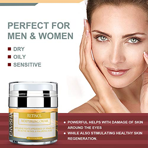 51kD6ziaUfL - Wumal Retinol Moisturizer Cream for Face and Eye Area - Anti Aging Infused with 3% Active Retinol, Hyaluronic Acid & Vitamin E - Reduce Wrinkles, Fine Lines, Fades Sun Spot
