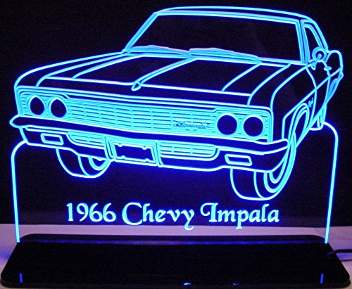 1966 Chevy Impala Acrylic Lighted Edge Lit 12