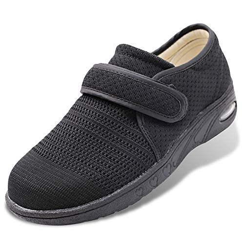 Womens Diabetic Walking Shoes Breathable Mesh Adjustable Outdoor Sneakers Recovery Easy On Off Strap Slip-On Slippers Comfort for Elderly Swollen Feet, Edema, Foot Pain