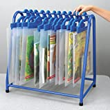 School Specialty TA-7219KD-BL Metal Read Along Book Rack, Blue
