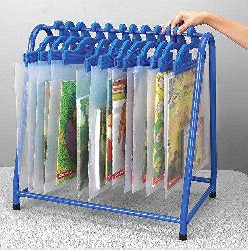 School Specialty TA-7219KD-BL Metal Read Along Book Rack, Blue
