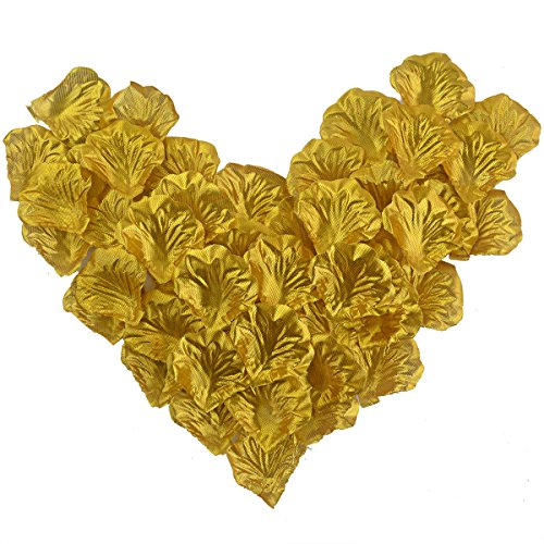 obmwang 2000 PCS Dark Silk Rose Petals Wedding Flower Decoration Artificial Red Rose Flower Petals for Wedding Party Favors Decoration and Vase Home Decor Wedding Bridal Decoration. Gold Coral Silk Rose Petals