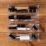 Clear Plastic Drawer Organizer Tray for Vanity