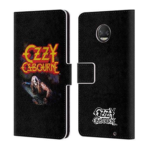 (Official Ozzy Osbourne Bark At The Moon Vintage Key Art Leather Book Wallet Case Cover For Motorola Moto Z2 Force)