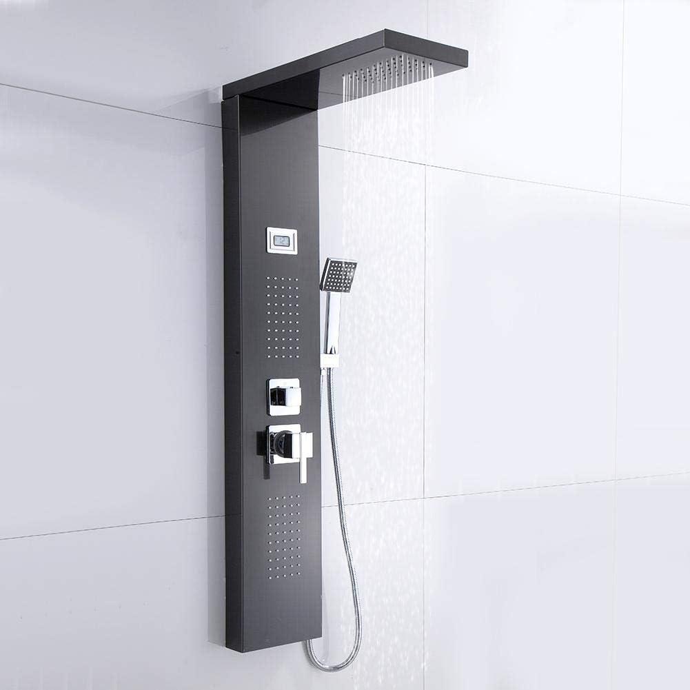 EBTOOLS - Panel de ducha de acero inoxidable con termostato y ...