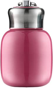 Stainless Steel Water Bottle, Mini 200ml Vacuum Insulated Water Bottle Vacuum Leak Proof Sport Insulated Tumbler Vacuum Cup Hot and Cold Water Bottle Women Girls Kids Gift (Rose)