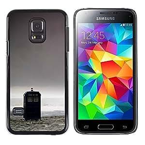 Caucho caso de Shell duro de la cubierta de accesorios de protección BY RAYDREAMMM - Samsung Galaxy S5 Mini, SM-G800 - Caja de Policía - Doctor