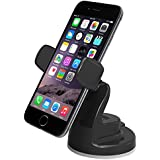 iOttie Easy View 2 Car Mount Holder for iPhone 6s Plus 6s 5s 5c, Samsung Galaxy S7 Edge Plus S7 S6, Note 7 5 -Retail Packaging -Black