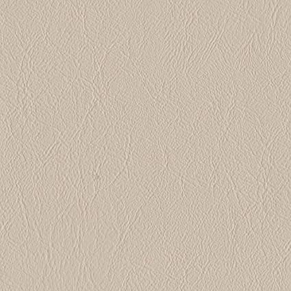 Ivory Cream Smooth Textured Faux Leather Leatherette Fabric