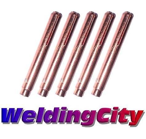 WeldingCity 5 Long Collets 13N20L 13N21L 13N22L 13N23L 13N24L 020-040-1//16-3//32-1//8 TIG Torch 9 20 /& 25