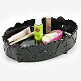 SSBY Fashion oval plastic storage boxes on the table, European-style dressing table lipstick lip gloss makeup skin care supplies storage boxes