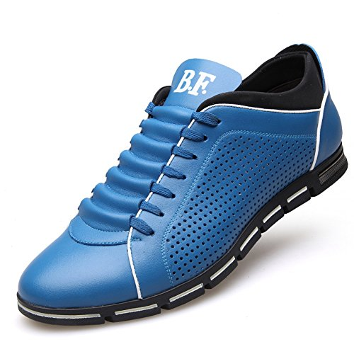 Hollow XiaoYouYu Casual out Leather Men's Hiking Outdoor Summer Blue Shoes BrTZTn