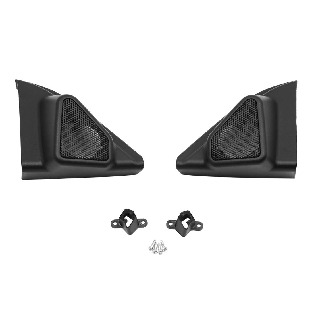 uxcell Pair Black Car Speaker Trim Cover Tweeter Protector for 2014 Toyota Levin