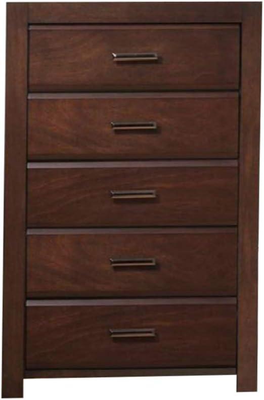 Benzara BM171367 Solid Wood Chest Brown