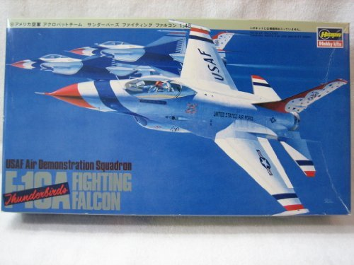 Hasegawa 1:48 Scale F-16A Fighting Falcon (Thunderbirds) USAF Air Demonstration Squadron Model Kit - F-16a Fighting Falcon