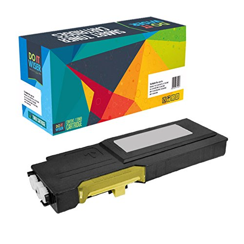 Do it Wiser Compatible High Yield Toner Cartridge Replacement for Dell C3760 C3760dn C3760n C3765 C3765dnf Yellow
