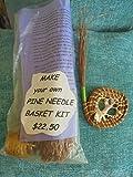 Pine Needle Pink Murex Shell BASKET MAKING KIT