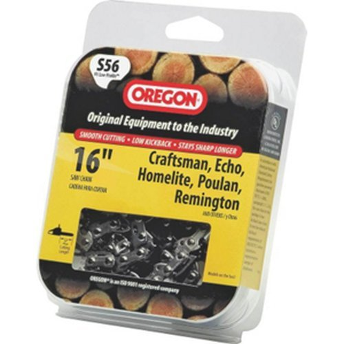 Oregon S56 16-Inch Semi Chisel Chain Saw Chain Fits Craftsman, Echo, Homelite, Poulan, Remington (Oregon Saw Blades)