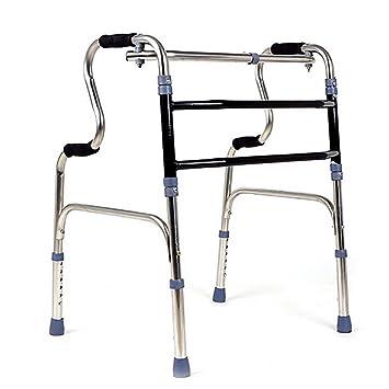GUO Acero inoxidable Walker personas de edad avanzada con ...