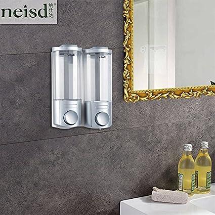 Montado a pared Sing & Twin Shampoo Gel de jabón dispensador para baño cocina Marketplace Hotel