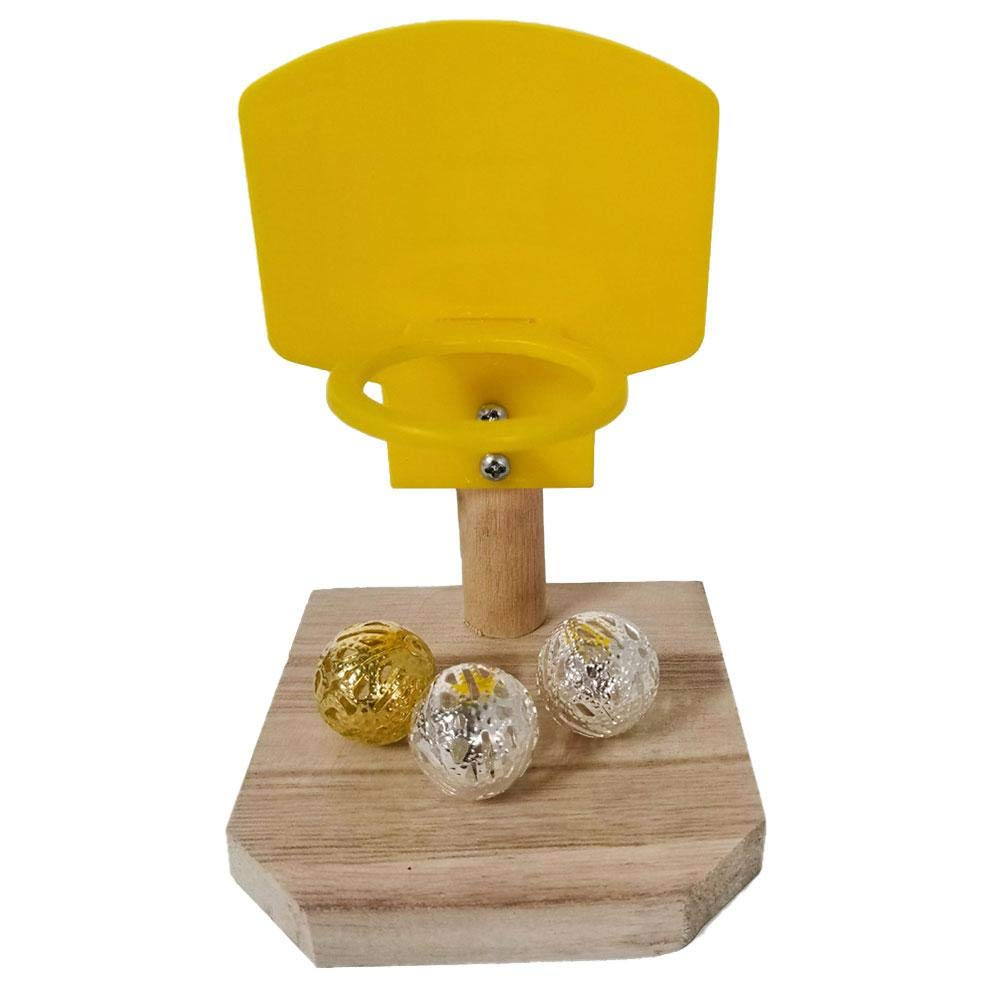 Set di Giocattoli Basket Pappagallo Bloomma Giocattoli educativi di addestramento allintelligenza degli Uccelli da Compagnia Mini Gioco di Basket Tavolo da Gioco pappagalli da Tavolo