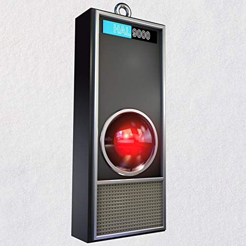 Hallmark 2001: A Space Odyssey HAL 9000 50th Anniversary Ornament with Light and Sound Sci-Fi,Movies & TV