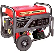 Brilliant Powered By Mitsubishi MGB7000X Gasoline Generator with Electric Start, 7000-watt