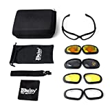 Motorcycle Riding Goggles, KEMIMOTO All Weather Protective Motorcycle Glasses with 4 Lens Kit for Outdoor Activity Sport Sunglasses
