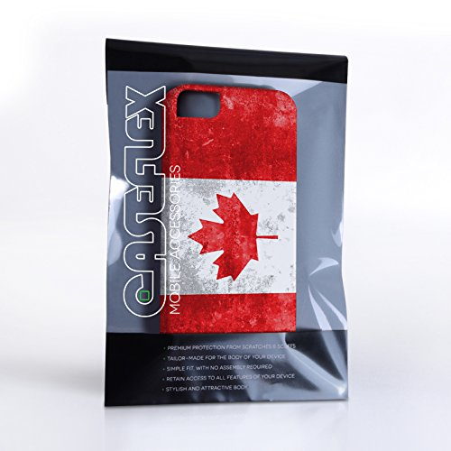 Caseflex Coque iPhone 4 / 4S Rétro Canada Drapeau Dur Housse