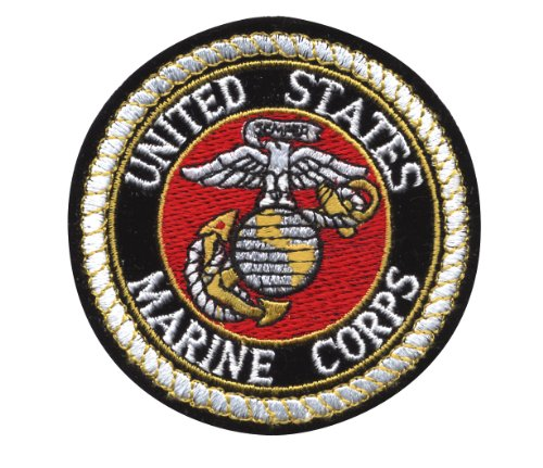 Rothco Deluxe USMC Round Patch, 3''