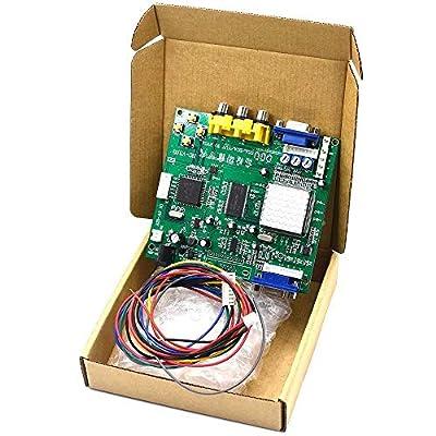 Arcade Game RGB CGA EGA YUV to VGA HD Video Converter Board 1 VGA Single Output for CRT LCD PDP Monitor GBS8200 Durable New