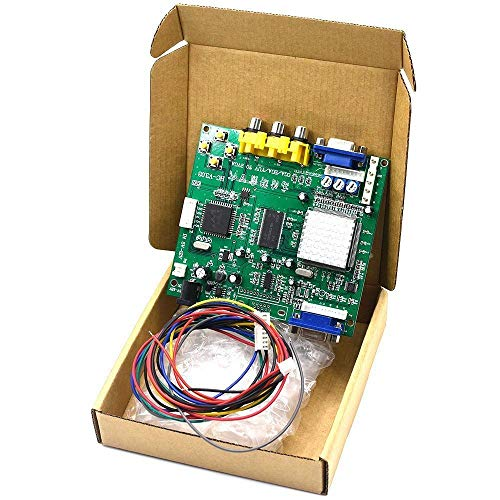 Arcade Game RGB CGA EGA YUV to VGA HD Video Converter Board 1 VGA Single Output for CRT LCD PDP Monitor GBS8200 Durable ()