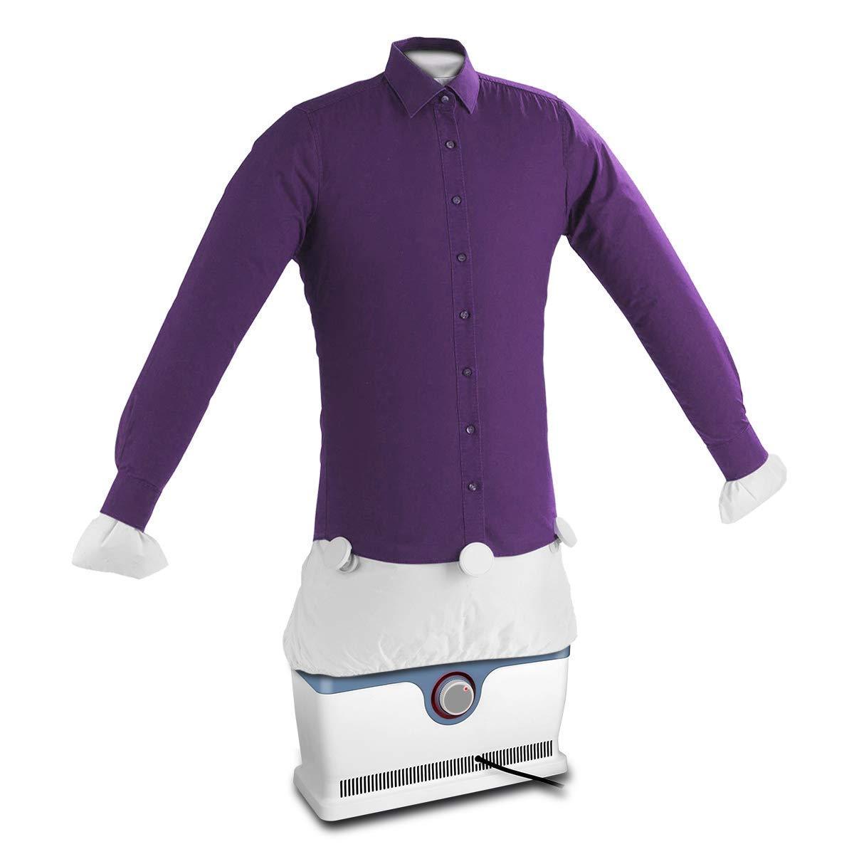 2 in 1 Automatischer Bügler Hemdenbügler Bügelmaschine Bügelpuppe Blusenbügler Ironing Machine Ironer für Hemden und Blusen, Trocknet und Bügelt Kleidung Yistyle