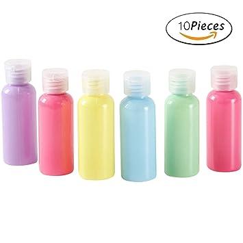 Plástico Conjunto de contenedores con tapa y tapa de viaje Protable Squeezable y botella de viaje