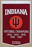 Winning Streak Indiana Hoosiers Official NCAA 24 inch x 36 inch Dynasty Wool Banner Flag by 760806