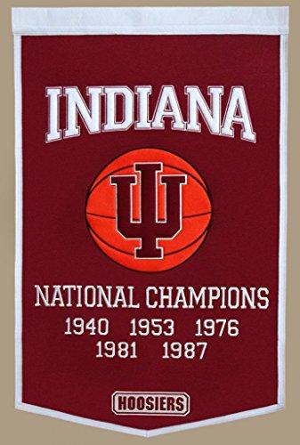 Winning Streak Indiana Hoosiers Official NCAA 24 inch x 36 inch Dynasty Wool Banner Flag by 760806 by Winning Streak