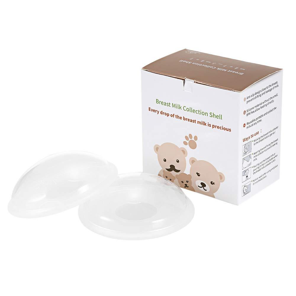 ToomLight Brustmilchkollektion Sheers wiederverwendbarer Sammler Verhindern Sie das Durchsickern der Brust bei der Fü tterung von Babys
