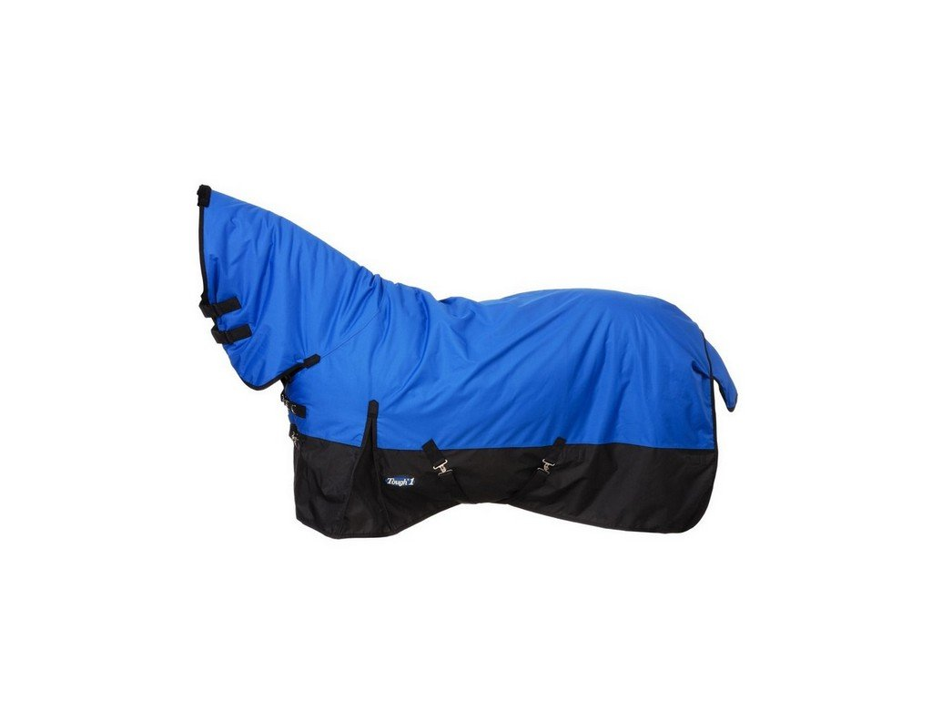 Tough 1 600D Waterproof Poly Full Neck Turnout Blanket, Royal Blue, 81''