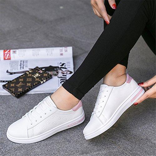 PU Nero Casual da Scarpe Outdoor Comfort B Up Viaggio Polvere Donna Autunno Bianco Calzature Sneakers Lace Bianca da Merletto Primavera XUE da Scarpe 16tnqw6T