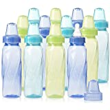 Evenflo Feeding Classic Twist Tinted Bottles, Green/Blue/Teal, 8 Ounce (Pack of 12)