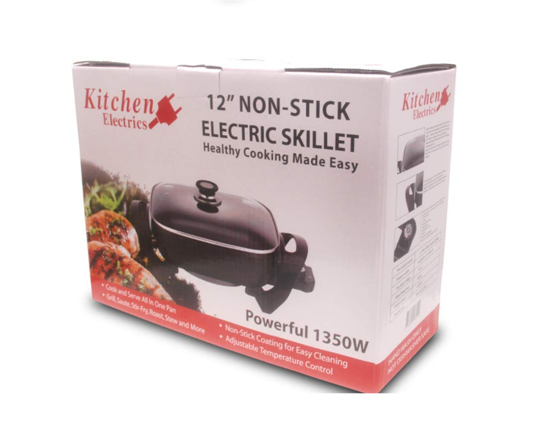 ZZBBQ 110V Multi-Function Electric Cooker Electric Skillet Thickening Household Electric Wok Hot Pot Smokeless Non-Stick Electric Pan Indoor by ZZBBQ (Image #8)
