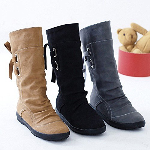 Yard Boots Biker Boots Walking Classics Gray Outdoor Boots Stable Winter Flat Low Boots Shoes Vintage Trim Simple Ladies Wedge Ankle 8wrB68U